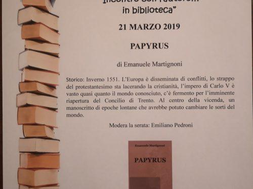 """""""PAPYRUS""""  a Inarzo (VA) il 21 marzo"""